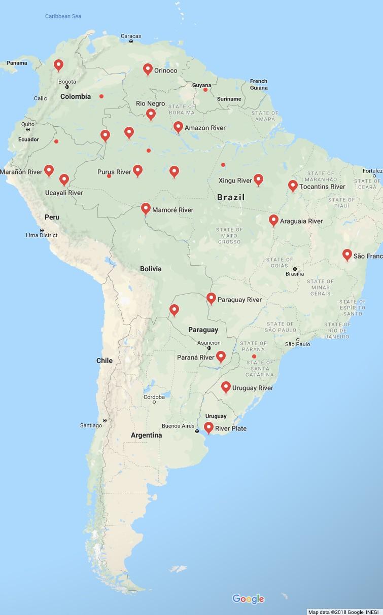 South America River Maps