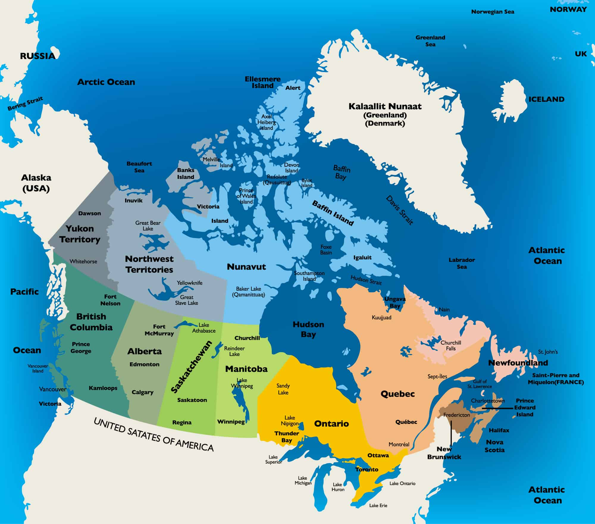 Canada States Map