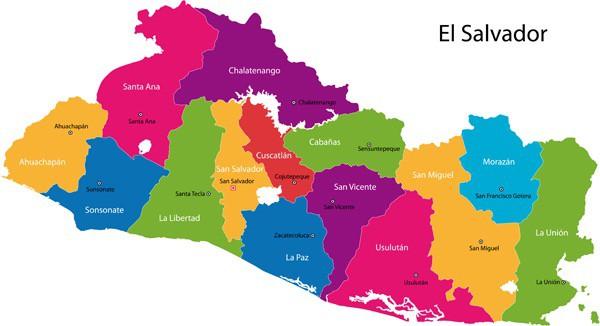 El Salvador States Map