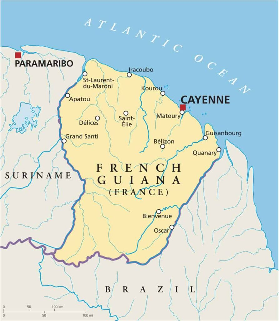 French Guiana Political Map
