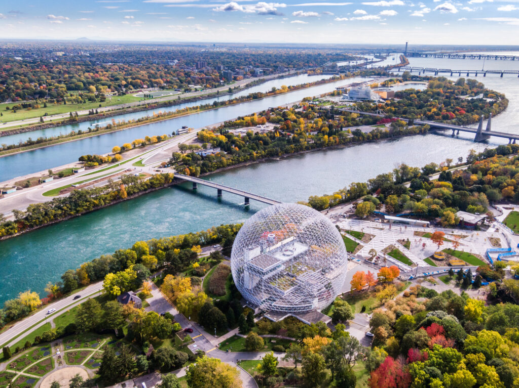 Biosphere and natural gardens in Montreal