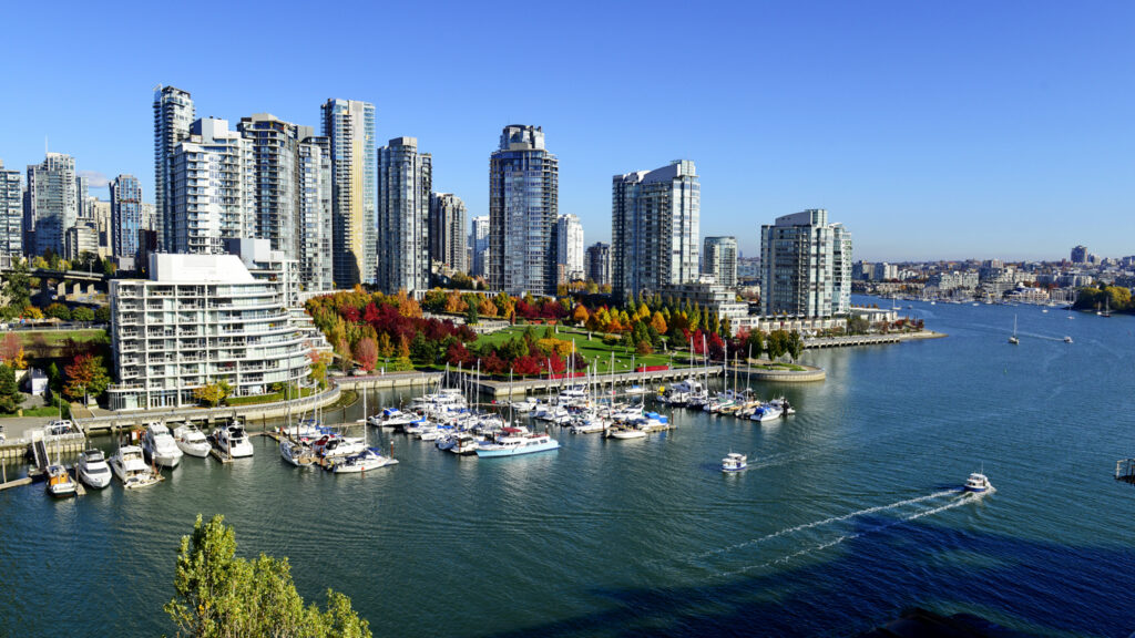 Modern skyline of Vancouver