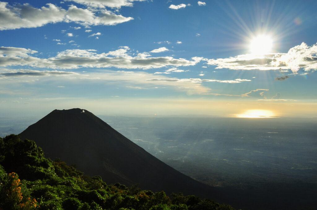 Amazing landscape of the Izalco Volcano