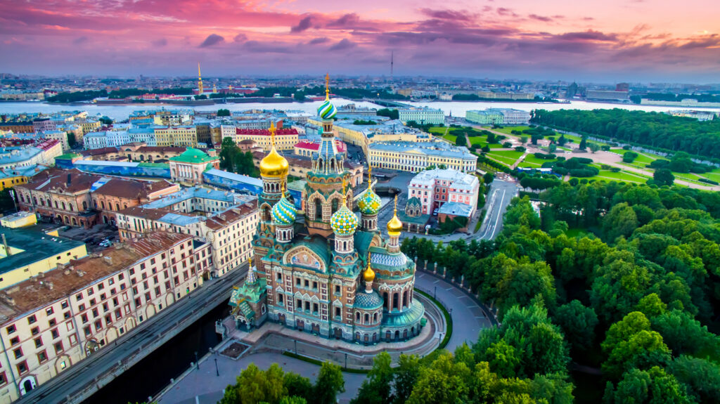 Beautiful architecture of St. Basil's Cathedral