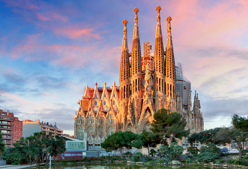 La Sagrada Familia designed by Antoni Gaudi