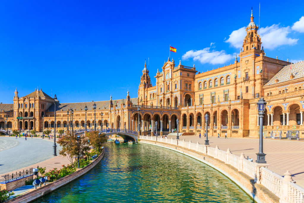 The famous Spanish Square in Seville