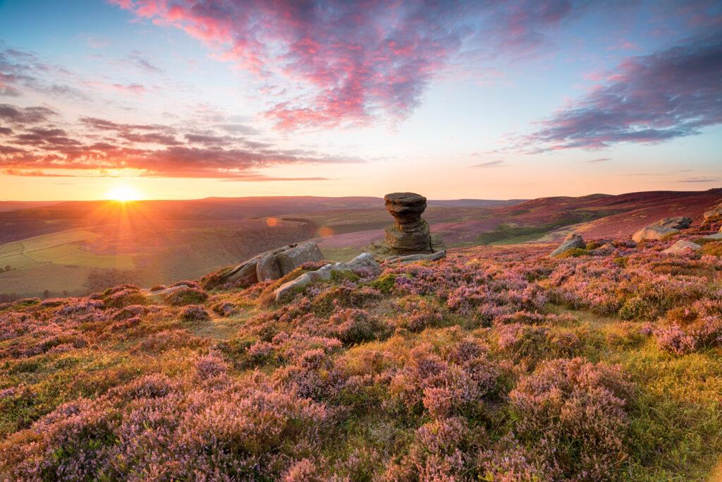 Beautiful landscape of the Peak District
