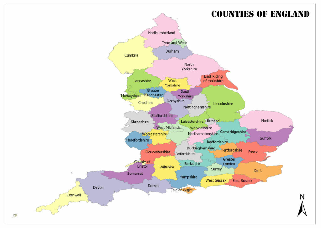 Counties of England 1