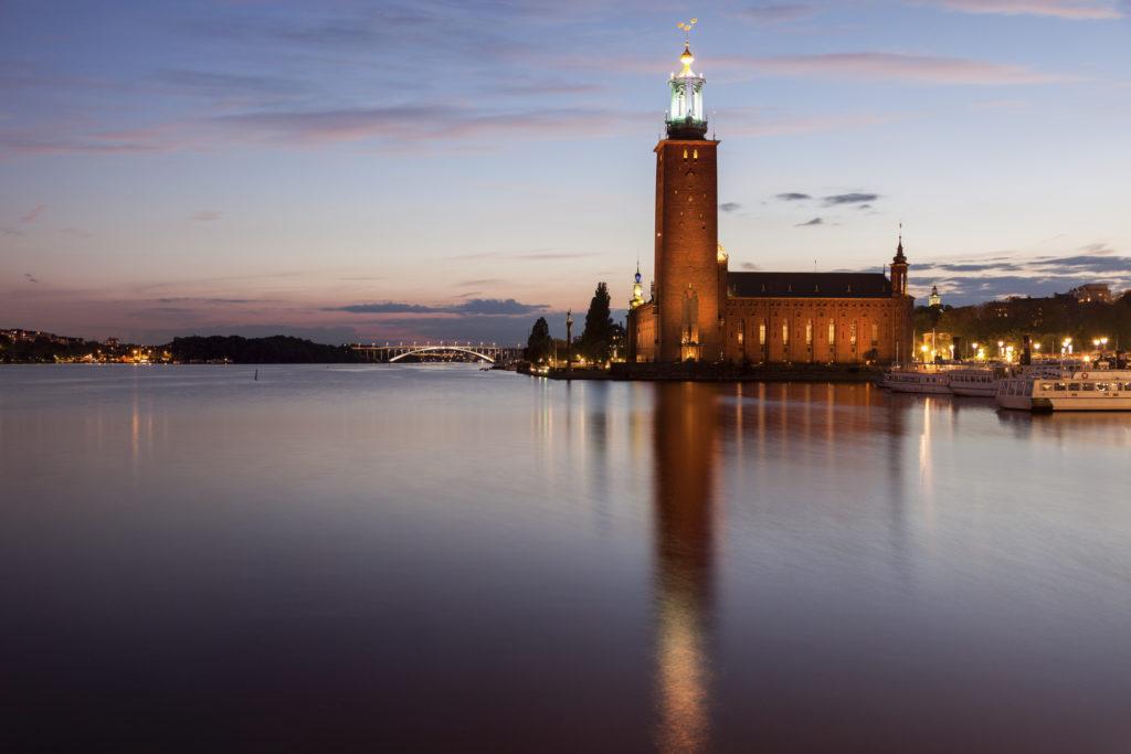 Stockholm City Hall. Stockholm, Sodermanland and Uppland, Sweden.