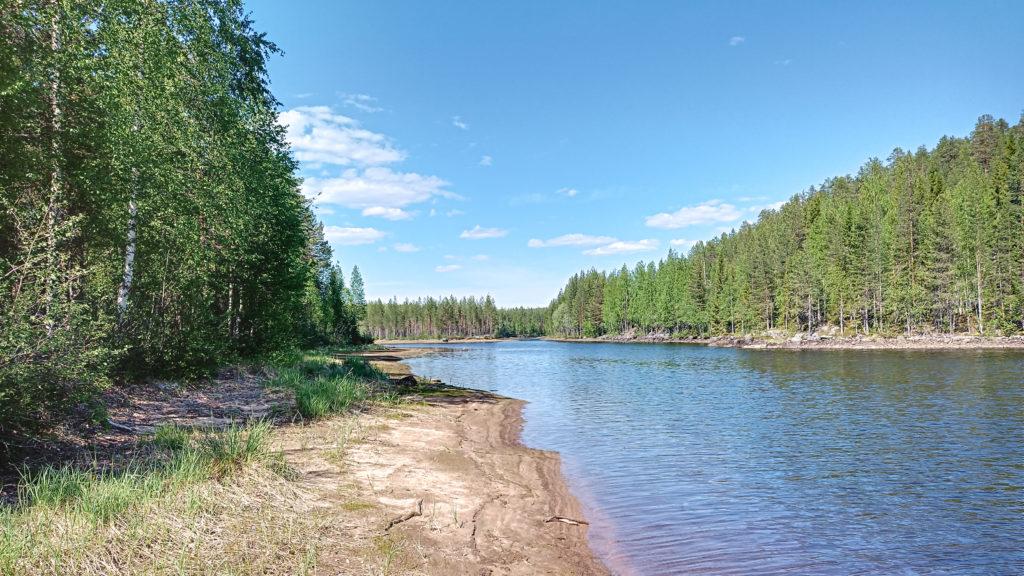 The river Skelleftealven in Vasterbotten in Sweden.