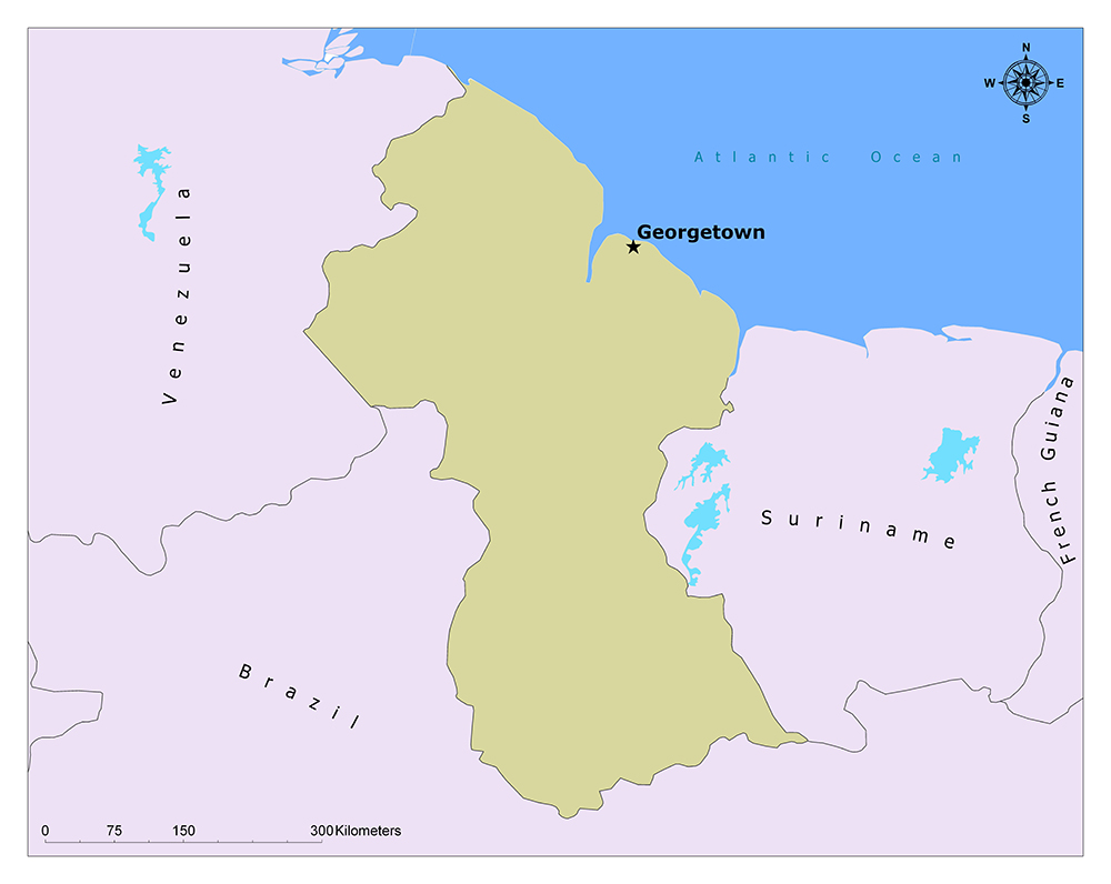 What is the Capital of Guyana? 1