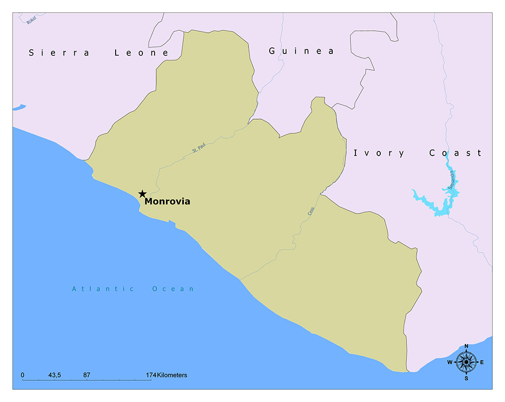 What is the Capital of Liberia? 1