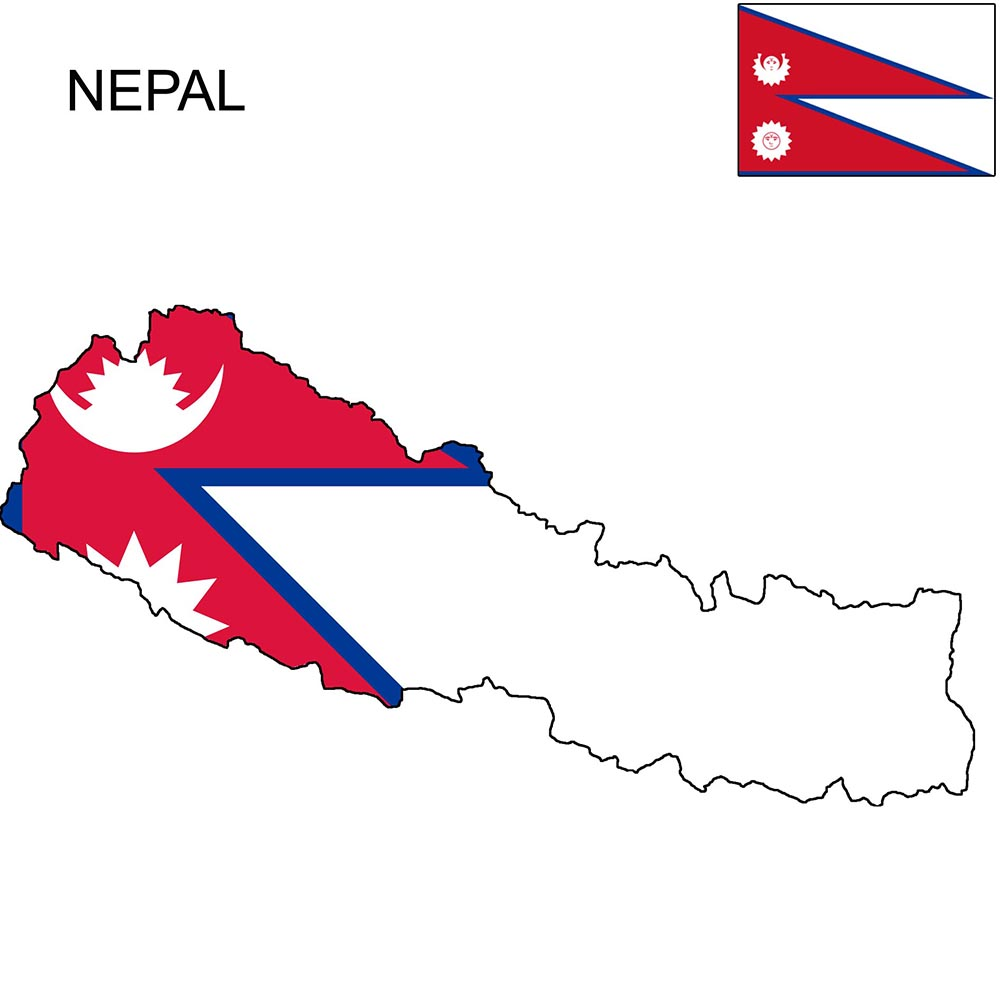 Nepal Flag Map and Meaning 1