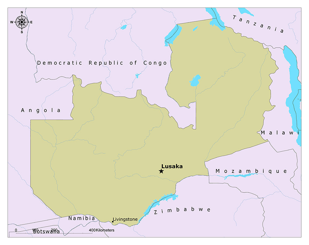What is the Capital of Zambia? 1