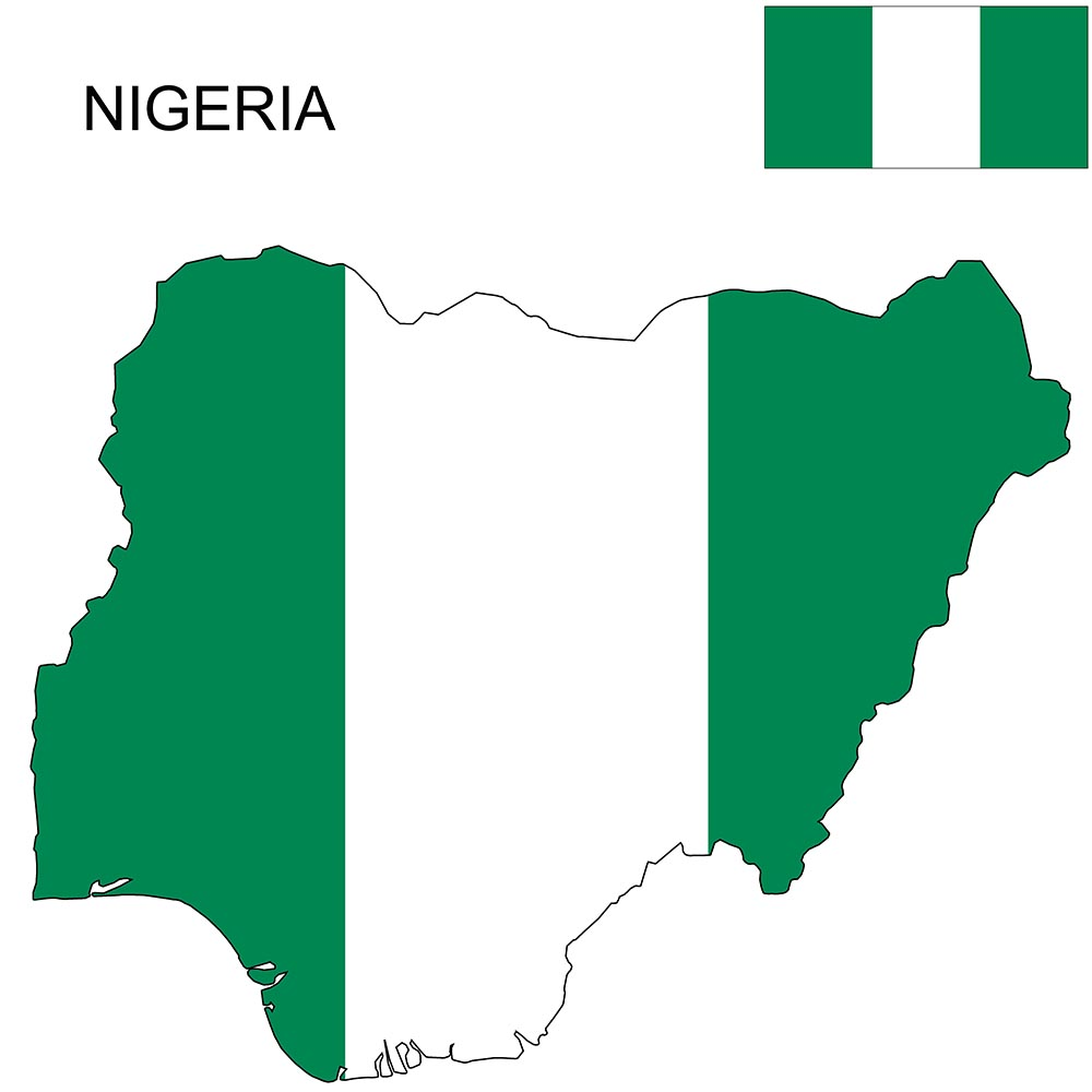 Nigeria Flag Map and Meaning 1