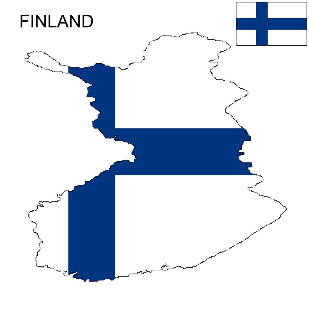 Finland Flag Map and Meaning 1