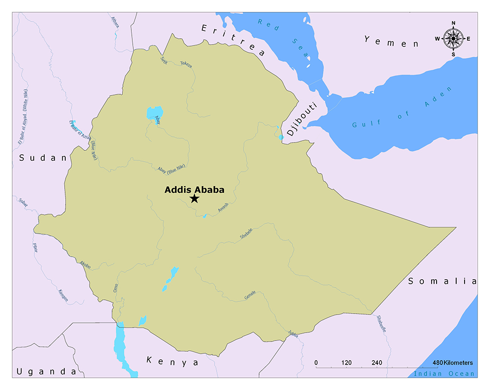 What is the Capital of Ethiopia? 1