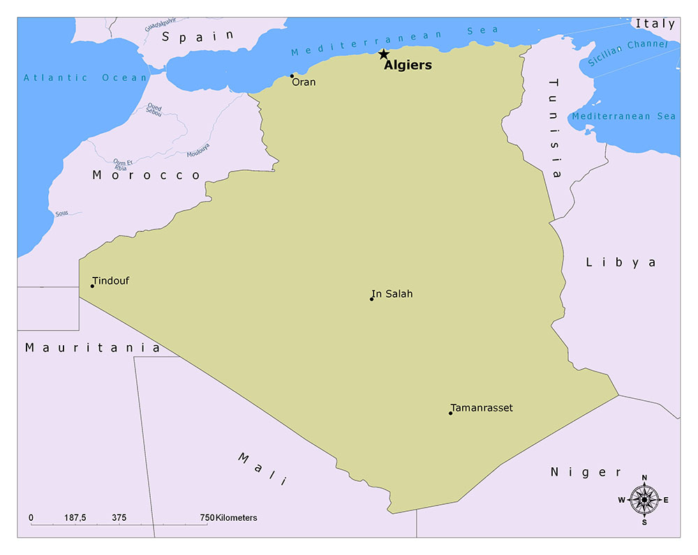 What is the Capital of Algeria? 1
