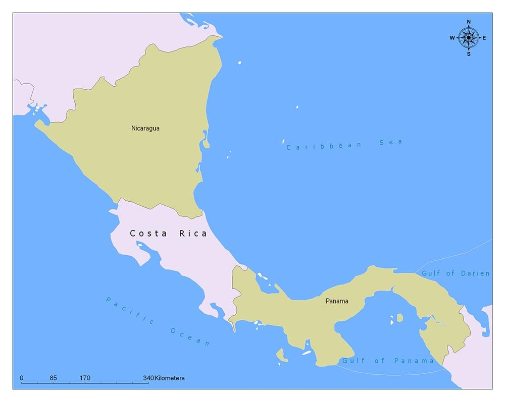 Costa Rica Flag Map and Meaning 2