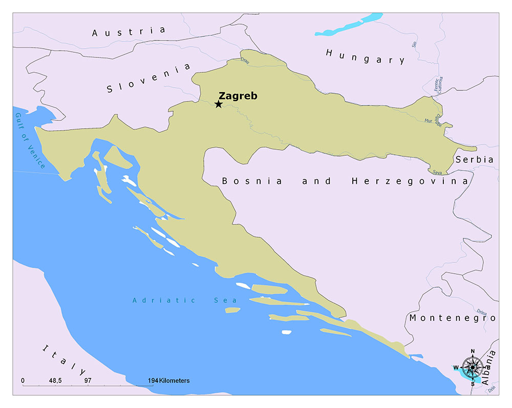 What is the Capital of Croatia? 1