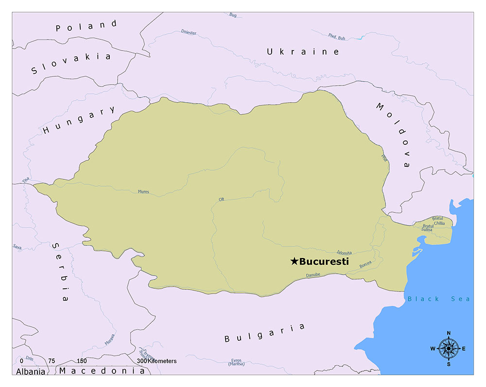 What is the Capital of Romania? 1