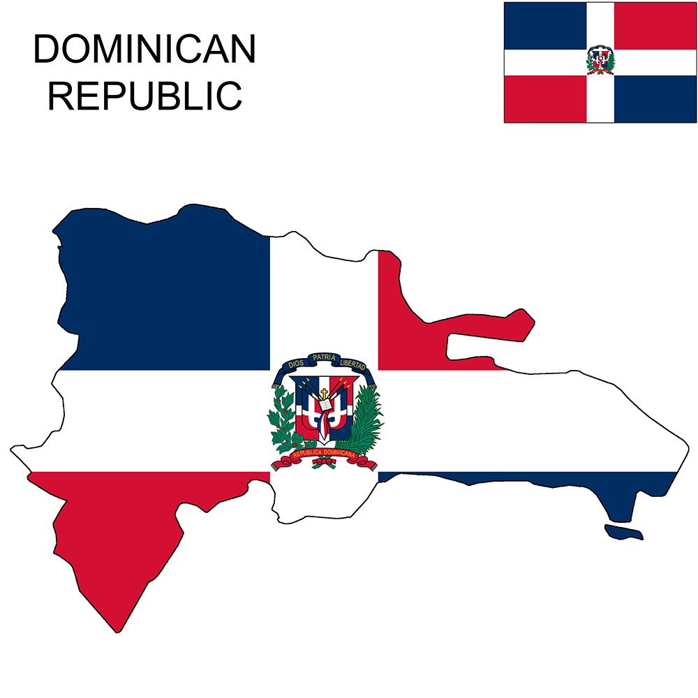 Dominican Republic Flag Map and Meaning 1