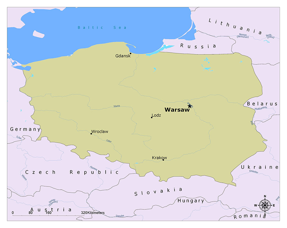 What is the Capital of Poland? 1