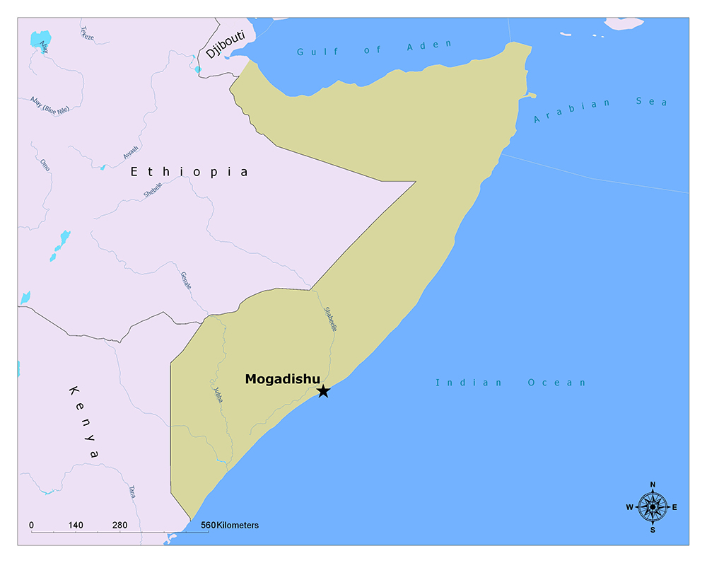 What is the Capital of Somalia? 1