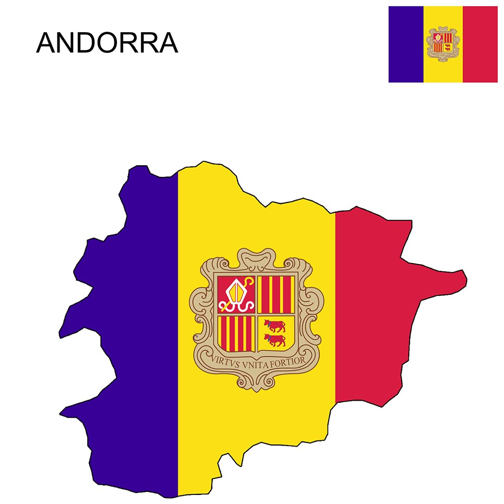Andorra Flag Map and Meaning 1
