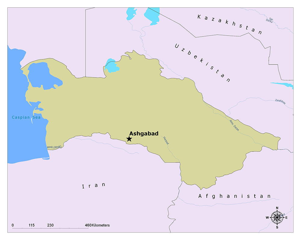 What is the Capital of Turkmenistan? 1