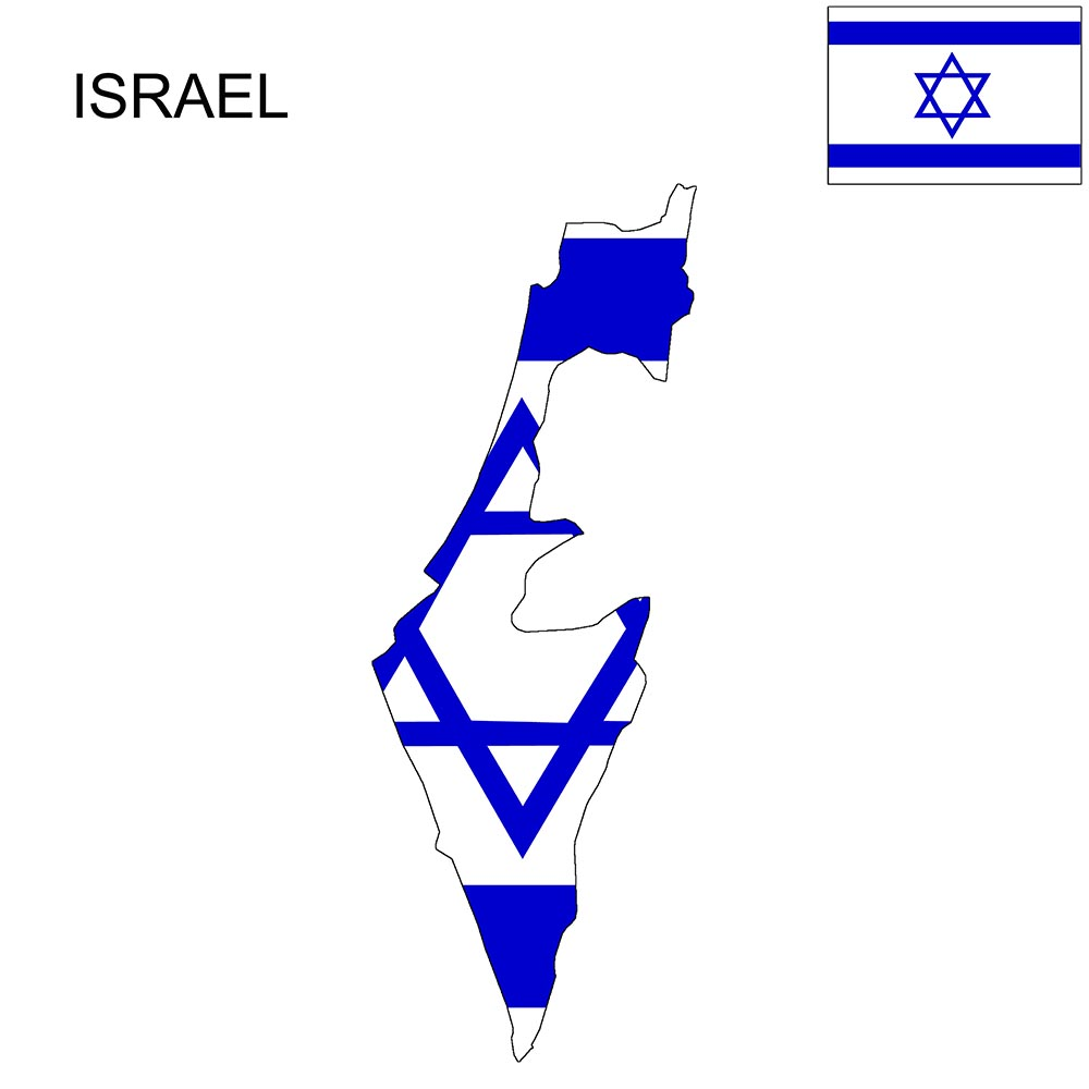 Israel Flag Map and Meaning 1