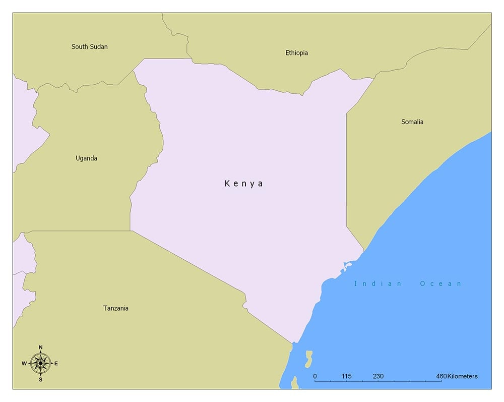 Kenya Flag Map and Meaning 2