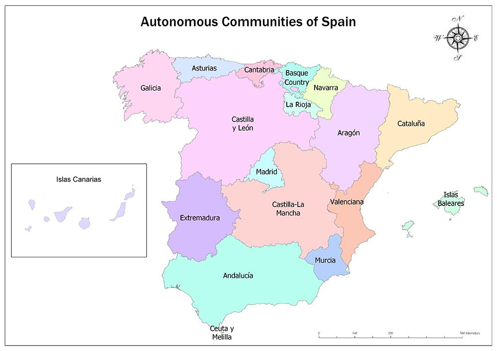 Autonomous Communities of Spain/Regions of Spain 1