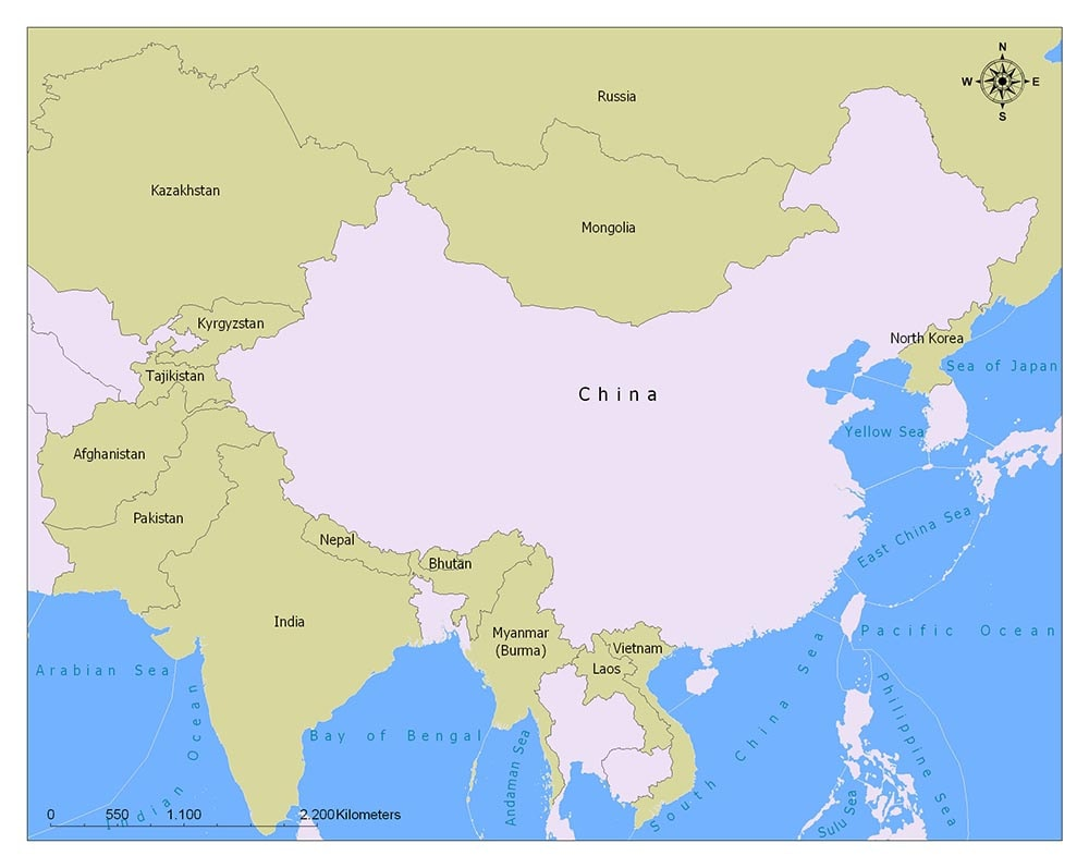 China Flag Map and Meaning 2