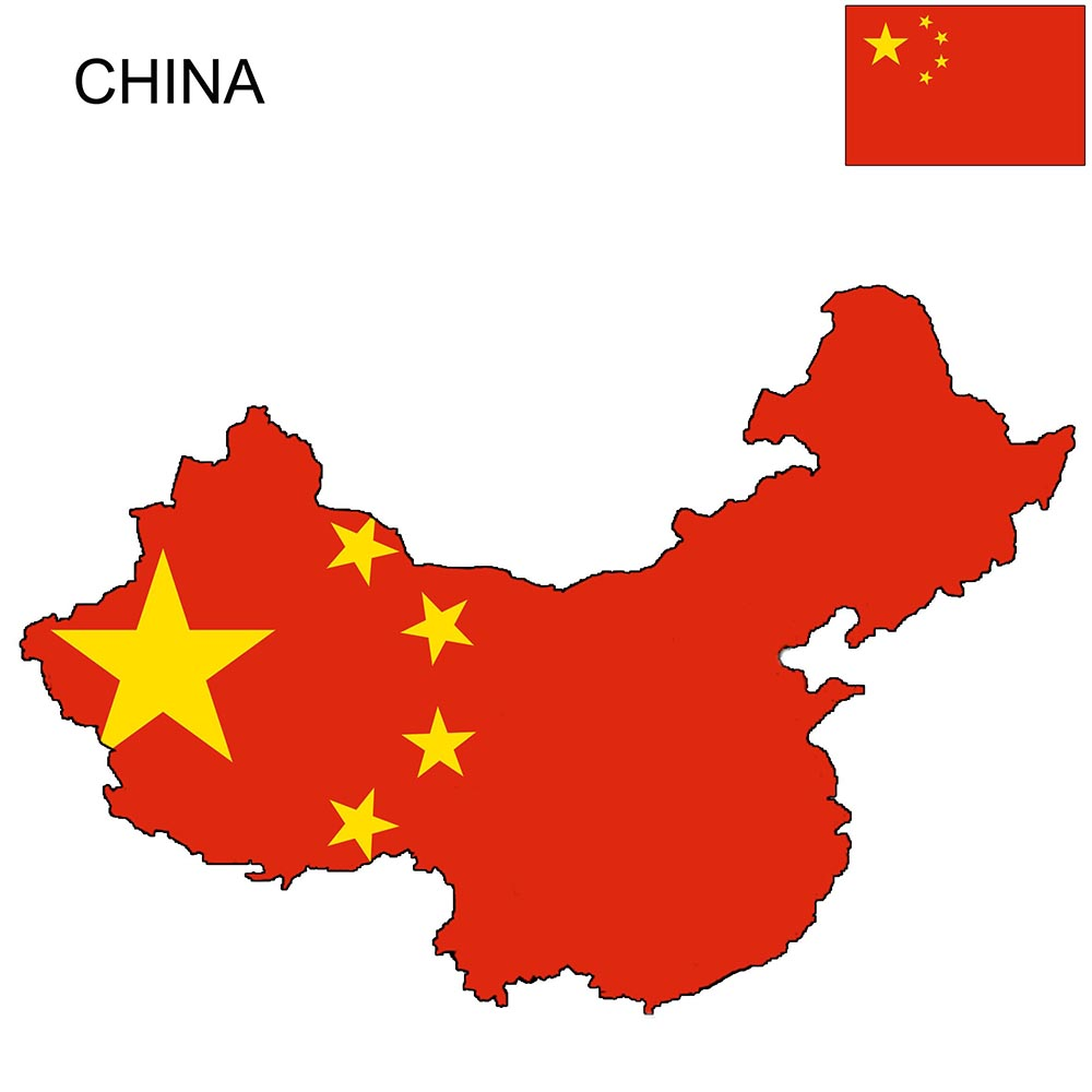 China Flag Map and Meaning 1