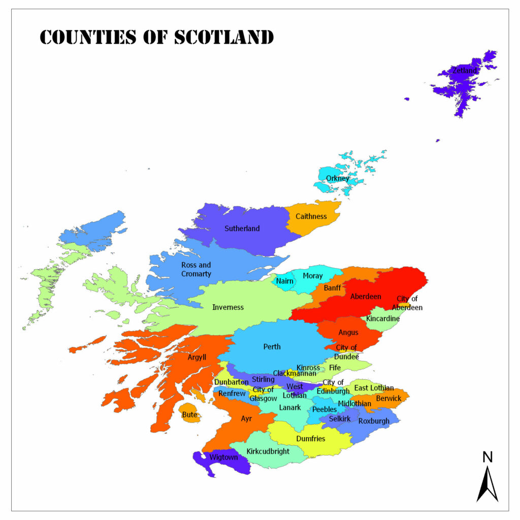 Counties of Scotland / Shires of Scotland / Council Areas of Scotland 1