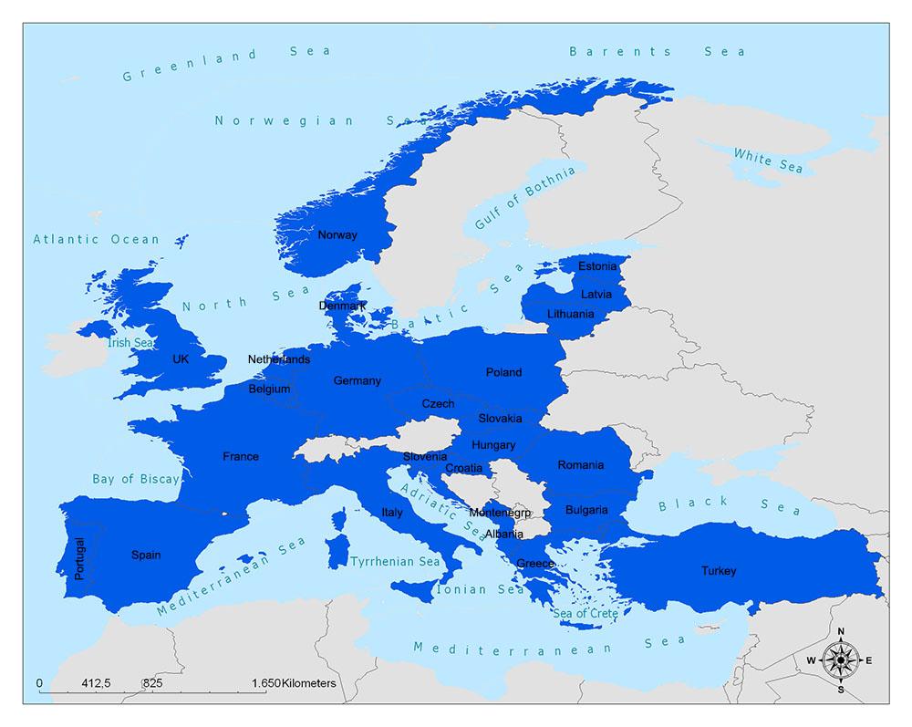 North Atlantic Treaty Organization (NATO)/NATO Map 1