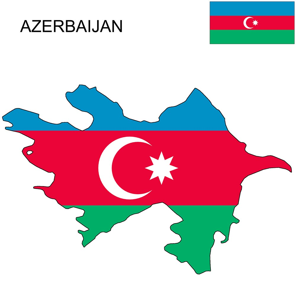 Azerbaijan Flag Map and Meaning 1
