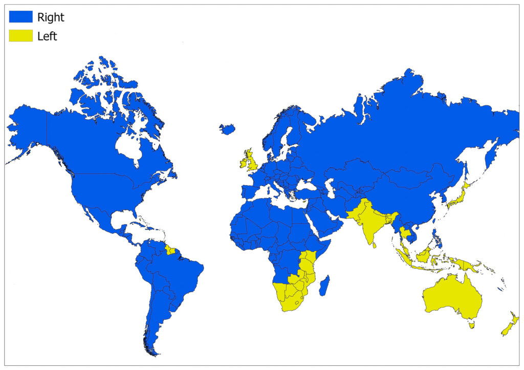 The Countries Where the Traffic is Left Hand 1