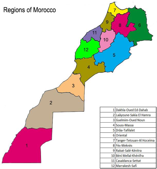 Regions of Morocco 1