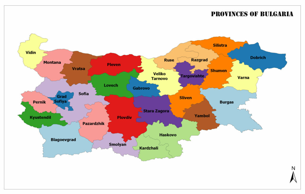 Provinces of Bulgaria-Oblasts of Bulgaria 1