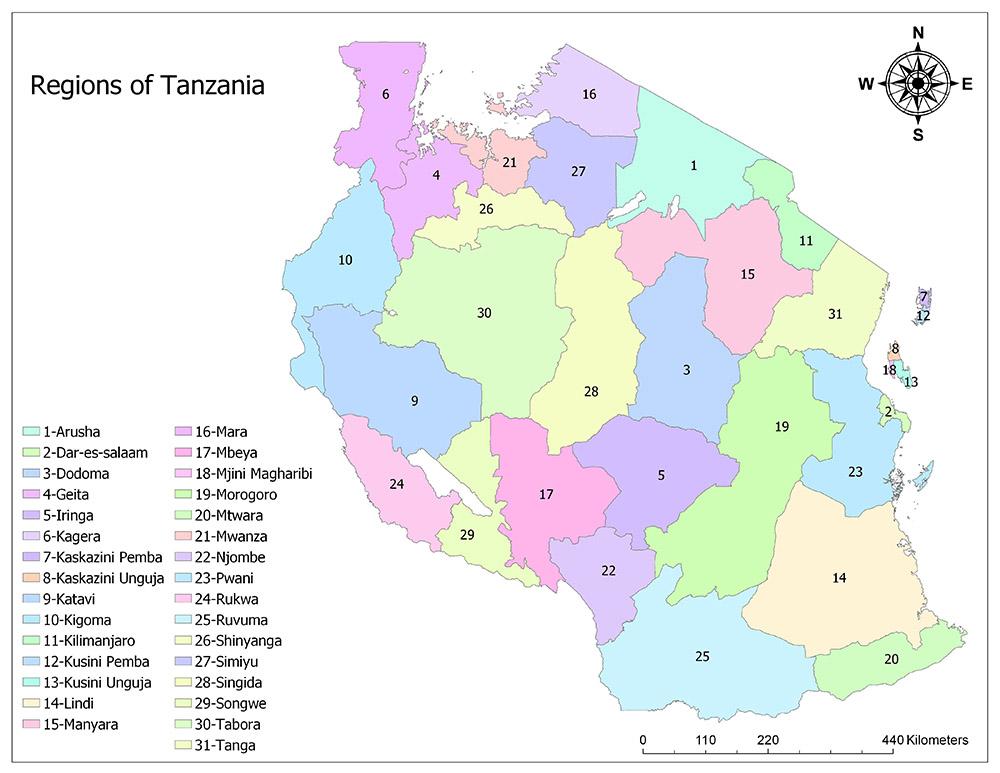 Regions of Tanzania 1