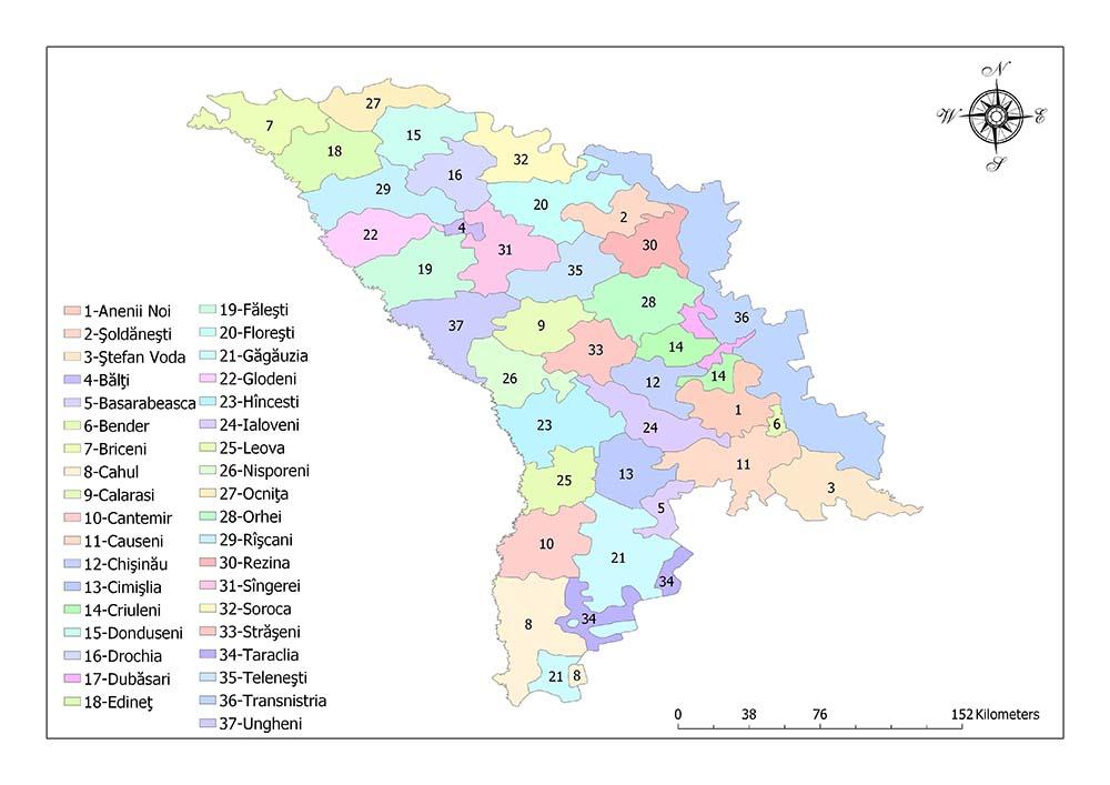 Administrative Divisions of Moldova 1