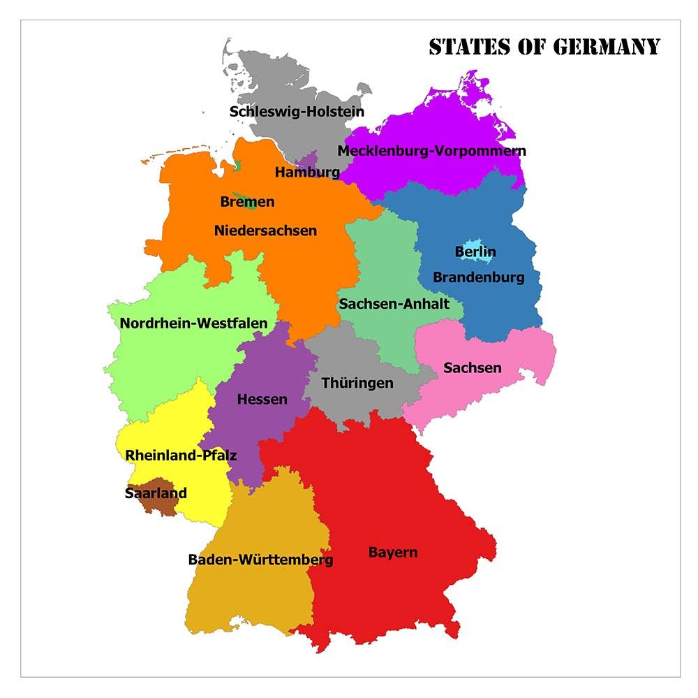Germany States Map and Country Facts 1