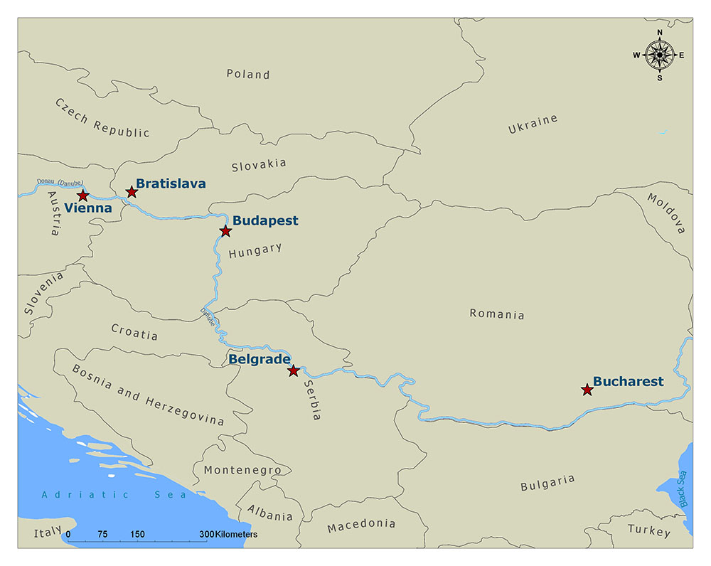 The Capitals that Danube River Passes Through 1
