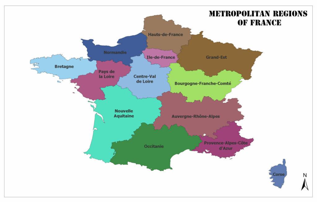 Metropolitan Regions of France