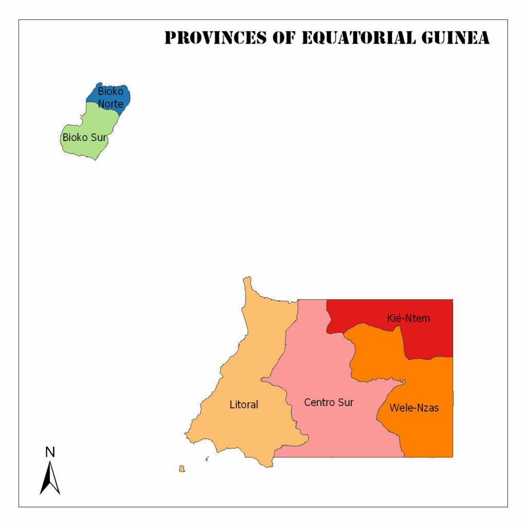 Map of Equatorial Guinea, Regions, Geography, and Facts 1