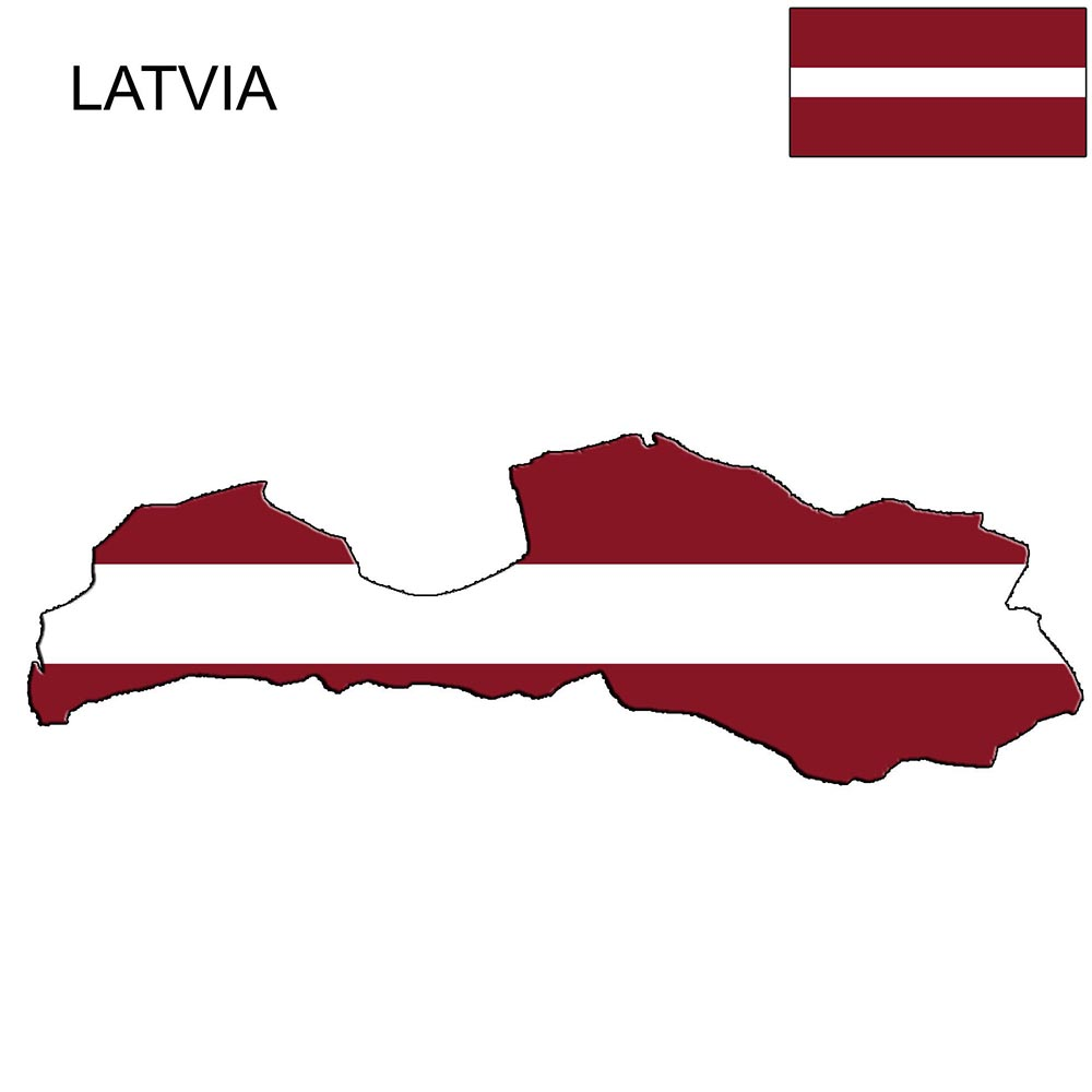 Latvia Flag Map and Meaning 1