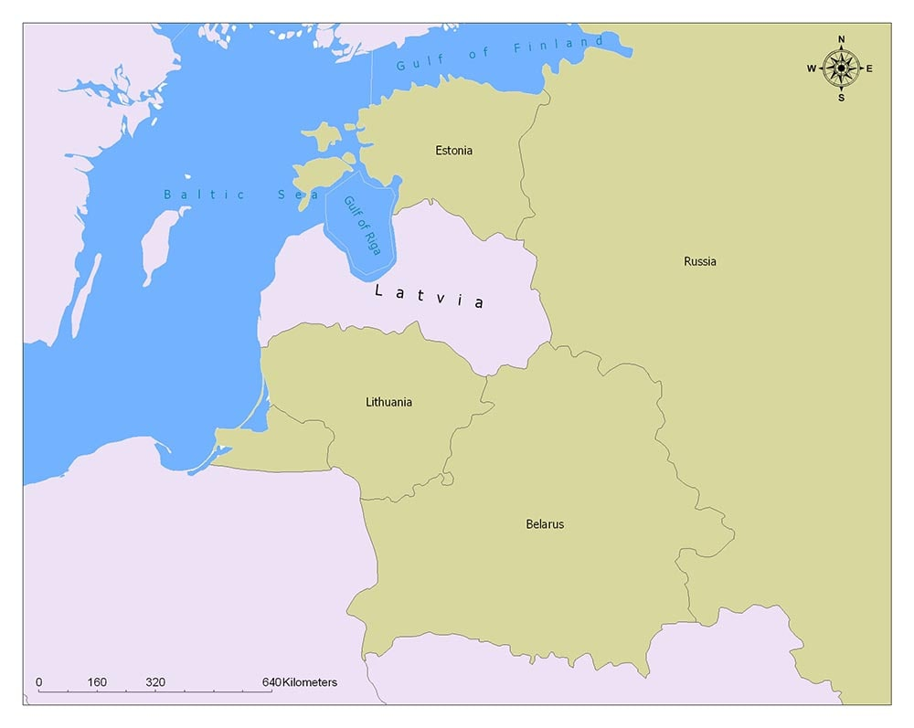 Latvia Flag Map and Meaning 2