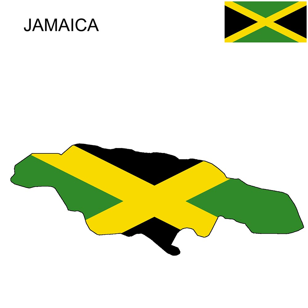 Jamaica Flag Map and Meaning 1